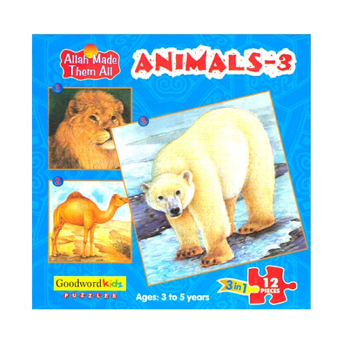 Animals 3 (Allah Made Them All - Box of 3 Puzzles)