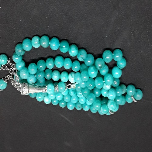 Authentic Green Jasper (Precious Stone) Prayer Beads/Tasbih in Counts of 99