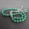 Authentic Green Jasper (Precious Stone) Prayer Beads/Tasbih in Counts of 33