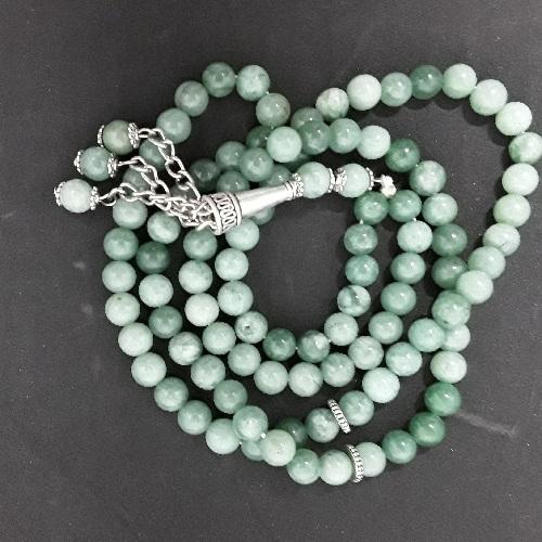 Authentic Tarquoise/Feroz (Precious Stone) Prayer Beads/Tasbih in Counts of 99