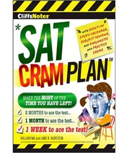CliffsNotes SAT Cram Plan (Cliffsnotes Cram Plan) 1st Edition