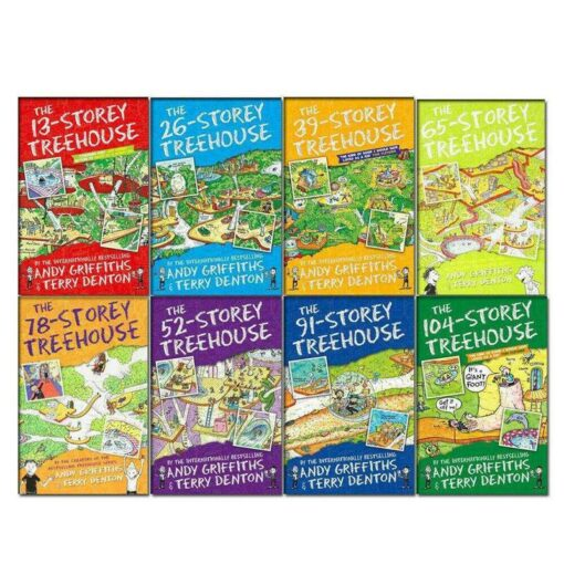 The Treehouse Series 8 Books Collection Set By Andy Griffiths